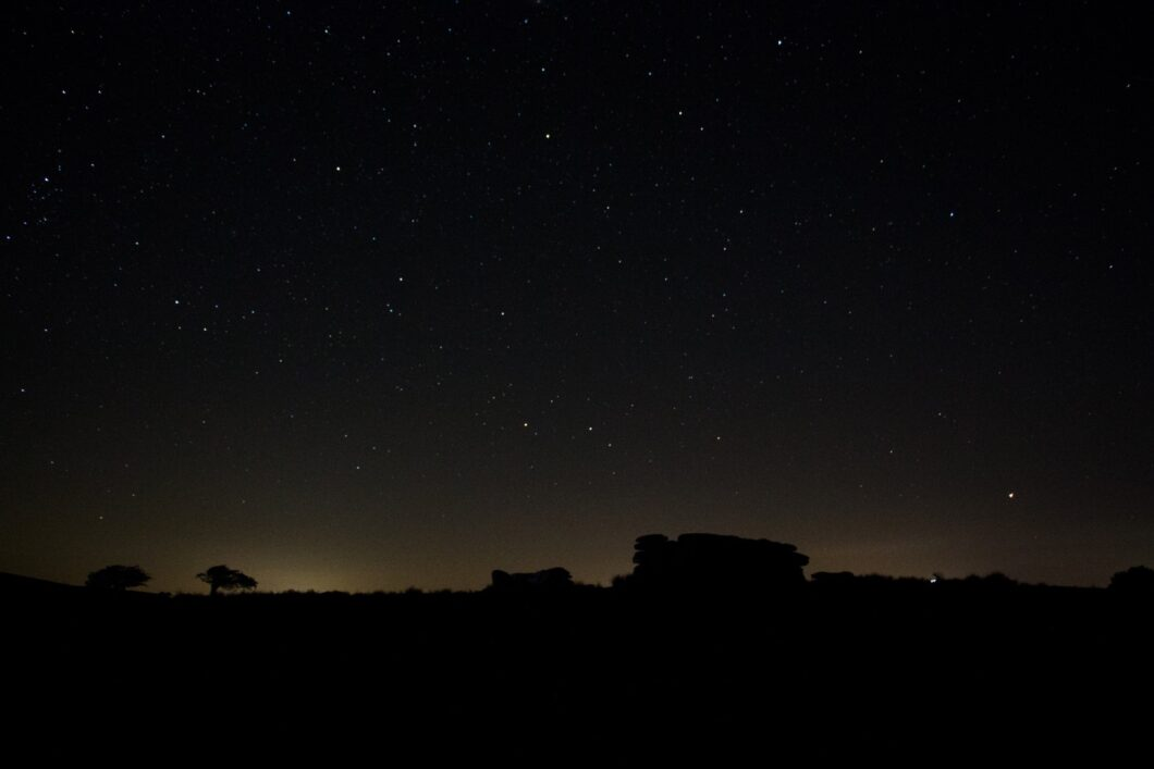 Combestone Tor at night